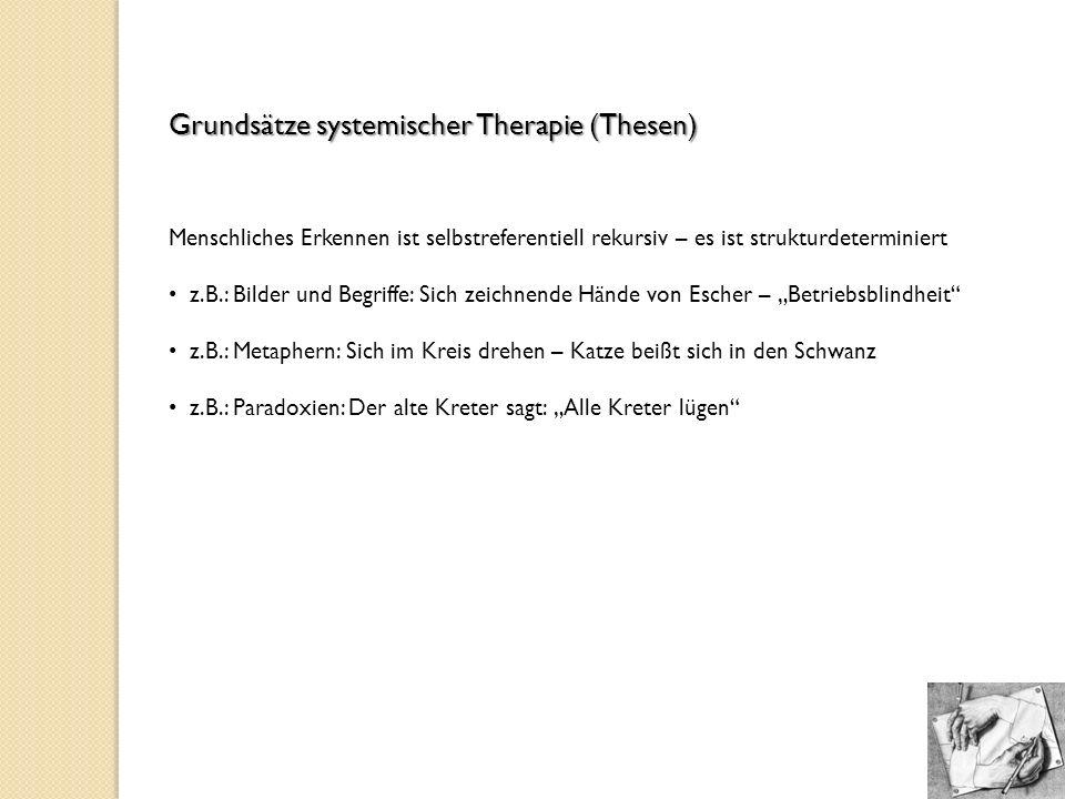 Grundsätze systemischer Therapie (Thesen)
