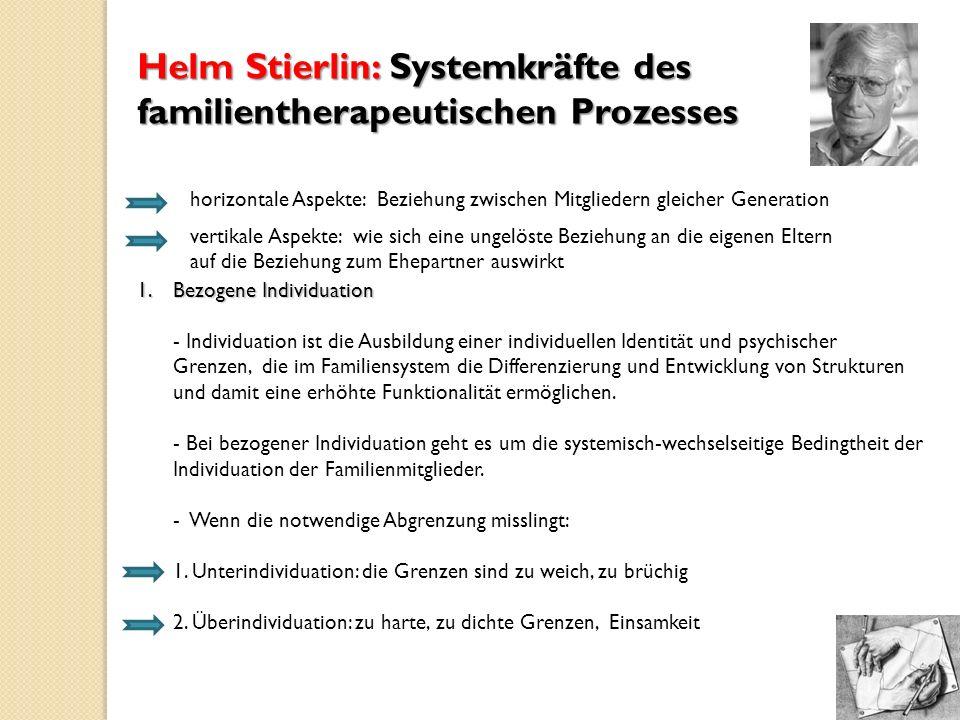 Helm Stierlin: Systemkräfte des familientherapeutischen Prozesses