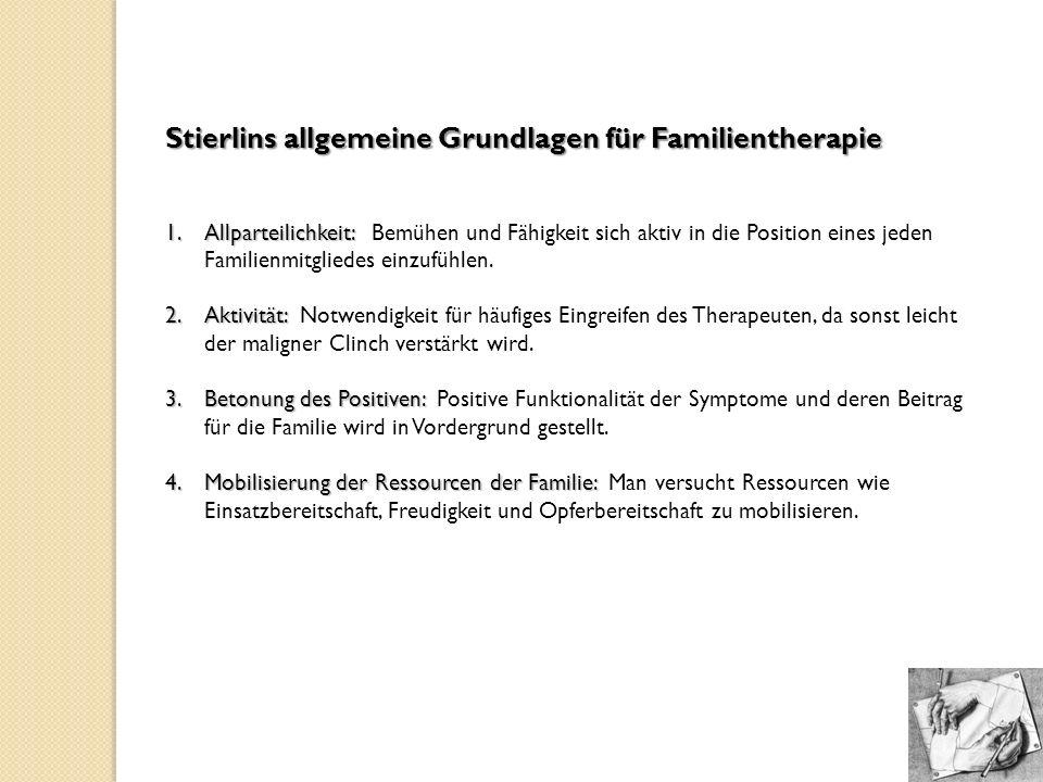 Stierlins allgemeine Grundlagen für Familientherapie