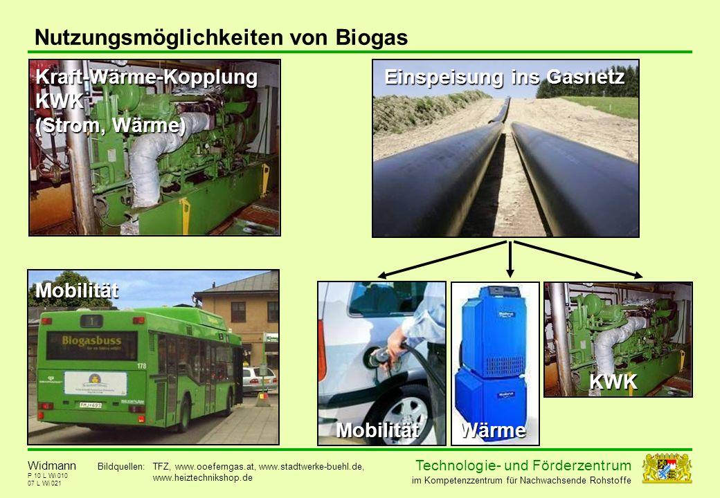 Nutzungsmöglichkeiten von Biogas