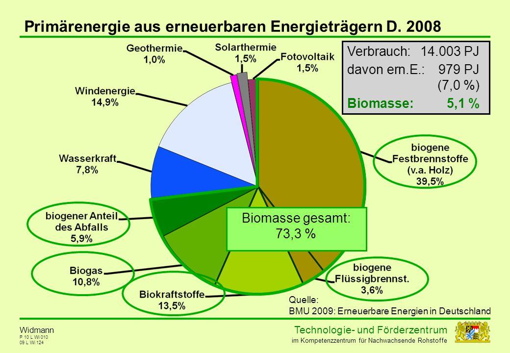 Primärenergie aus erneuerbaren Energieträgern D. 2008
