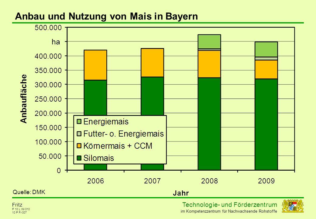Anbau und Nutzung von Mais in Bayern