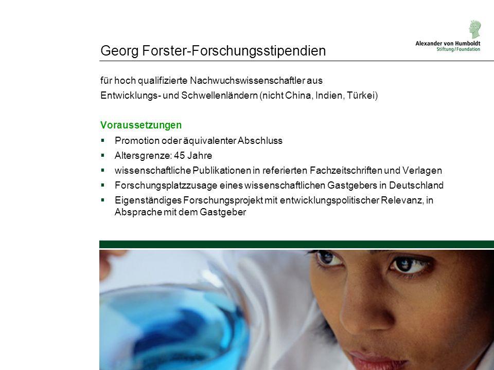 Georg Forster-Forschungsstipendien
