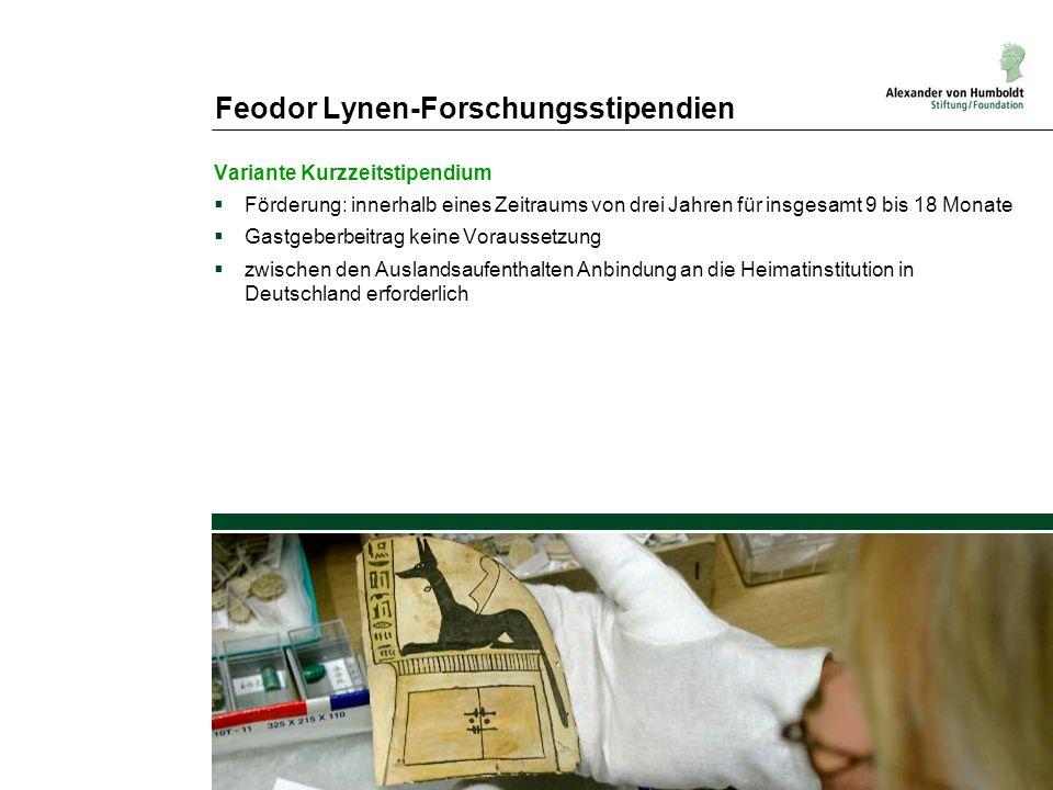 Feodor Lynen-Forschungsstipendien