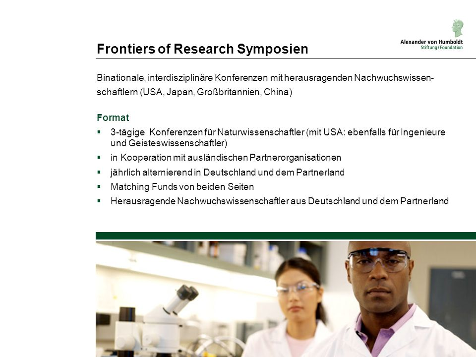 Frontiers of Research Symposien
