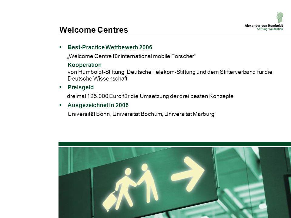 Welcome Centres Best-Practice Wettbewerb 2006