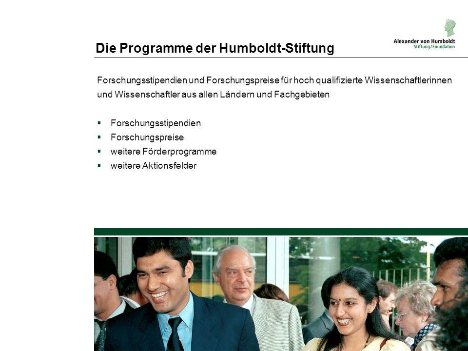 Die Programme der Humboldt-Stiftung
