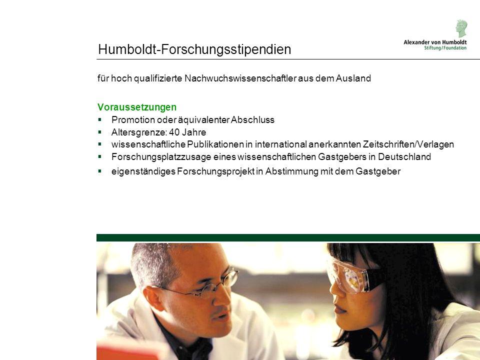 Humboldt-Forschungsstipendien