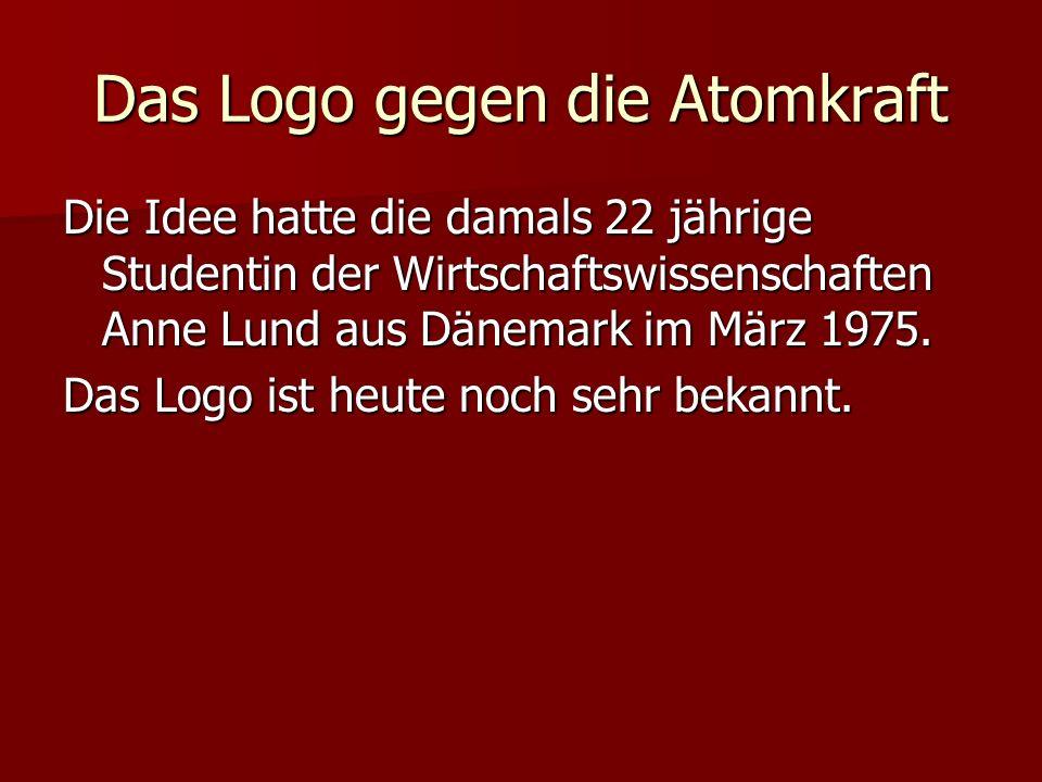 Das Logo gegen die Atomkraft