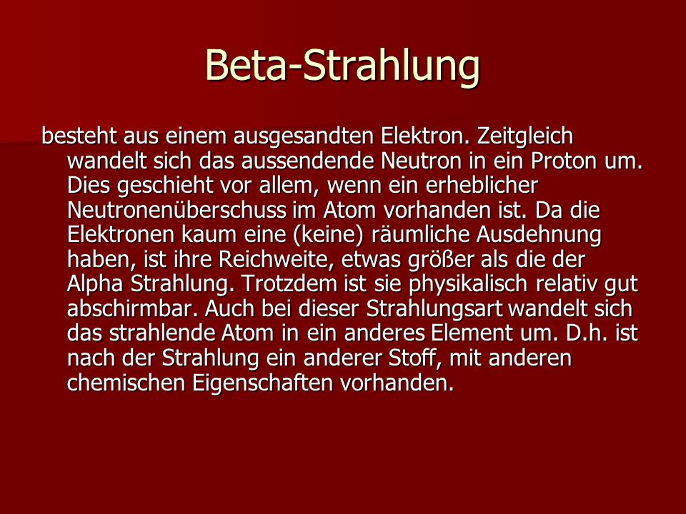 Beta-Strahlung