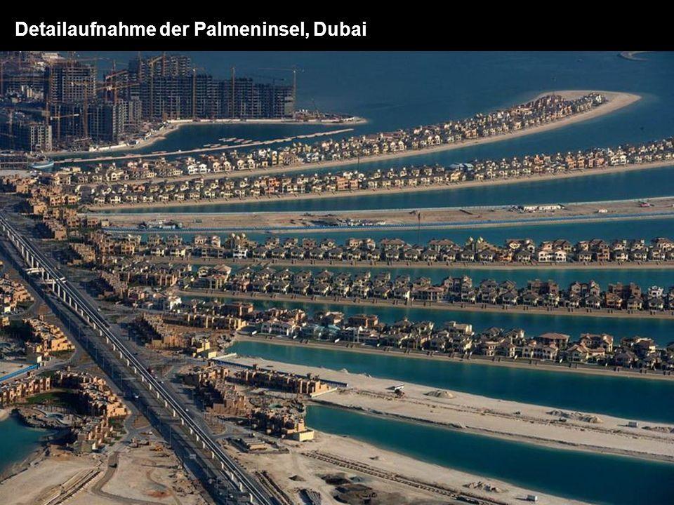 Detailaufnahme der Palmeninsel, Dubai