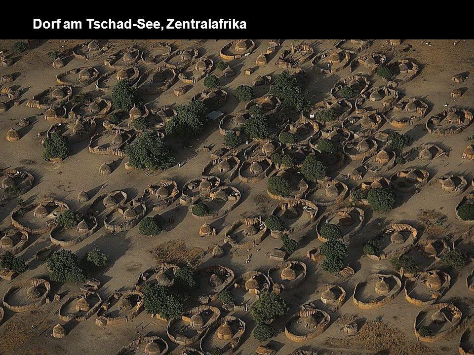 Dorf am Tschad-See, Zentralafrika