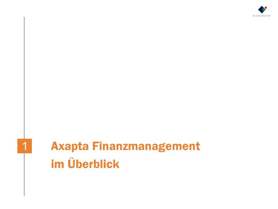 Axapta Finanzmanagement im Überblick
