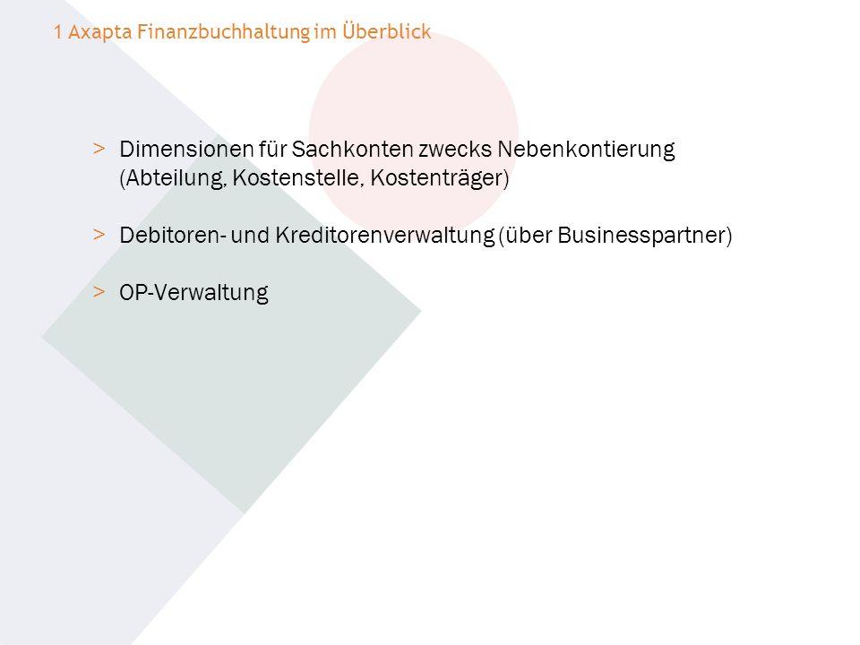 Debitoren- und Kreditorenverwaltung (über Businesspartner)