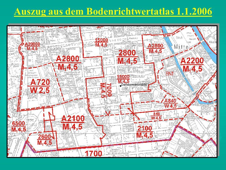 Auszug aus dem Bodenrichtwertatlas 1.1.2006
