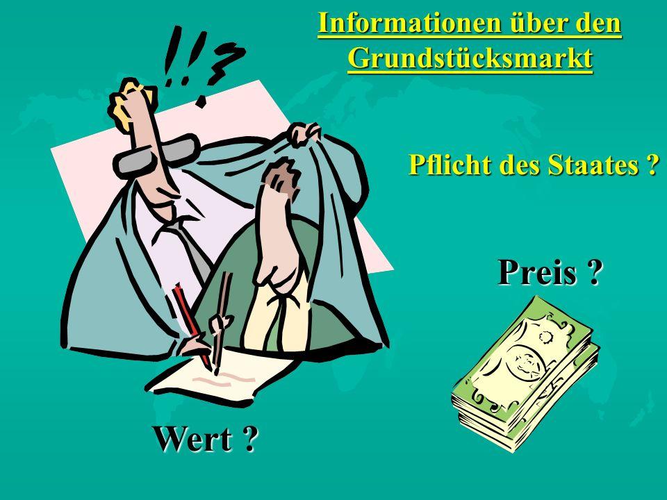 Informationen über den Grundstücksmarkt