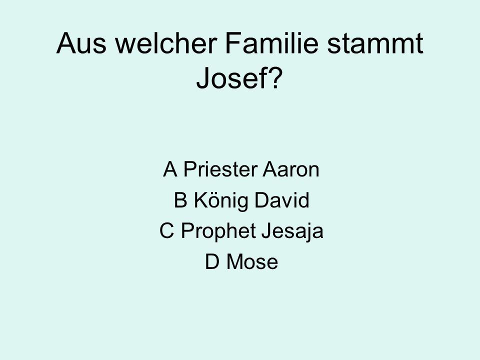 Aus welcher Familie stammt Josef