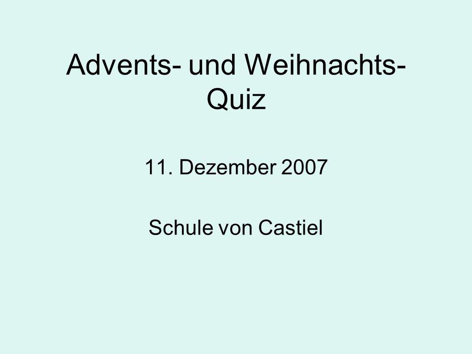 Advents- und Weihnachts-Quiz