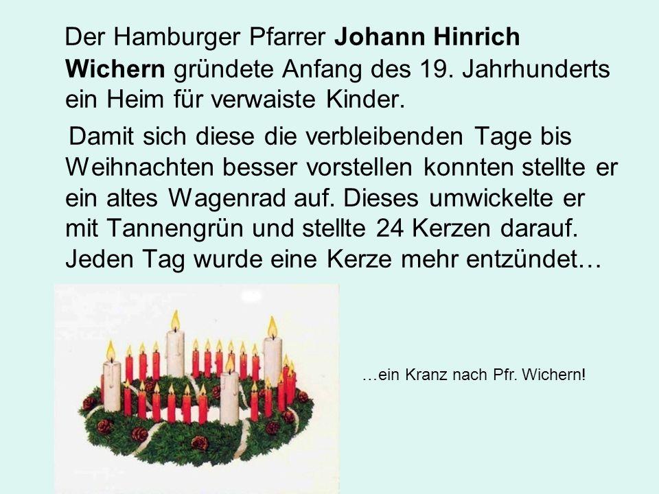 Der Hamburger Pfarrer Johann Hinrich Wichern gründete Anfang des 19
