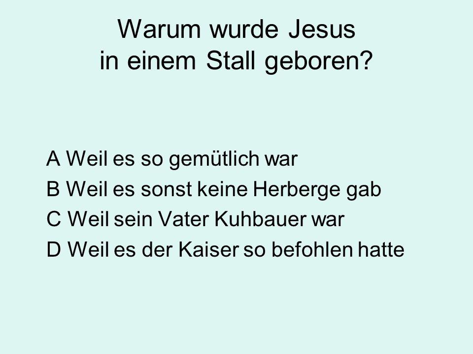 Warum wurde Jesus in einem Stall geboren