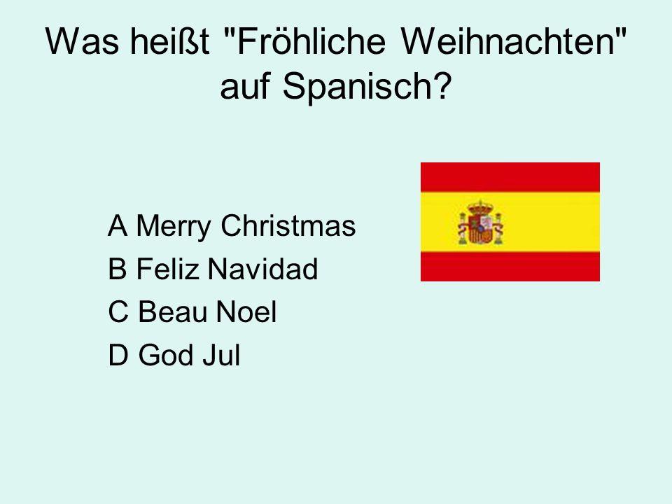 Was heißt Fröhliche Weihnachten auf Spanisch