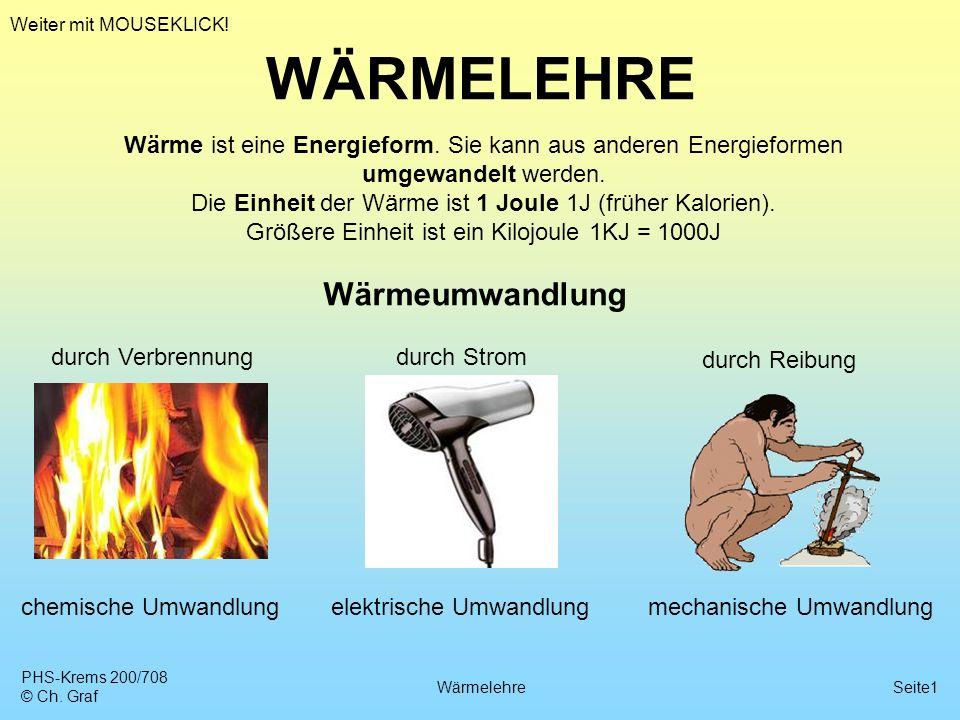 WÄRMELEHRE Wärmeumwandlung