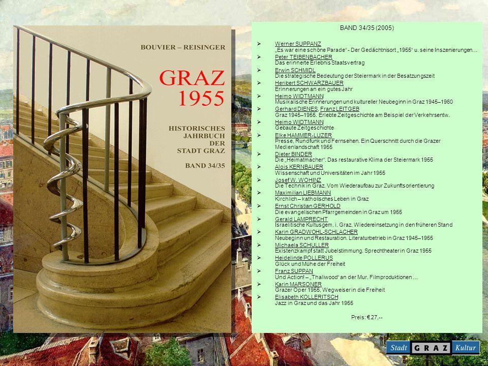 """BAND 34/35 (2005) Werner SUPPANZ """"Es war eine schöne Parade - Der Gedächtnisort """"1955 u. seine Inszenierungen…"""