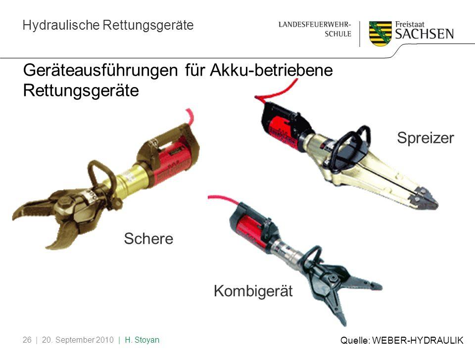 Geräteausführungen für Akku-betriebene Rettungsgeräte