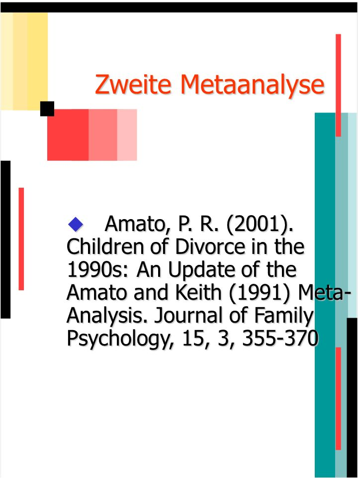 Zweite Metaanalyse
