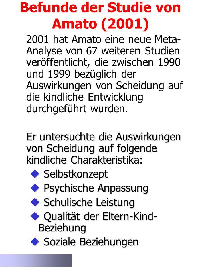 Befunde der Studie von Amato (2001)