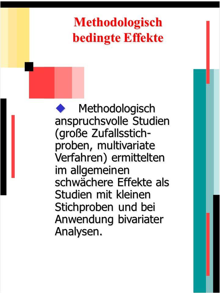 Methodologisch bedingte Effekte