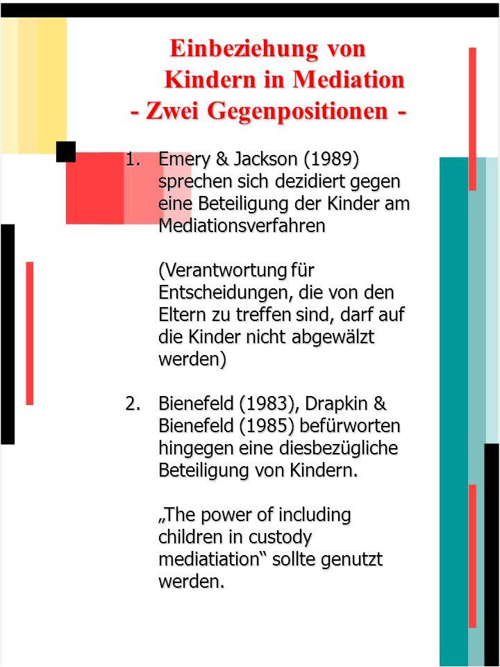 Einbeziehung von Kindern in Mediation