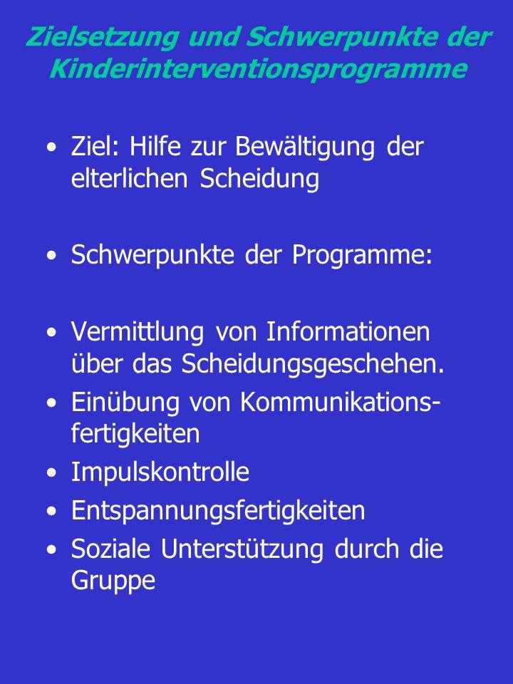 Zielsetzung und Schwerpunkte der Kinderinterventionsprogramme