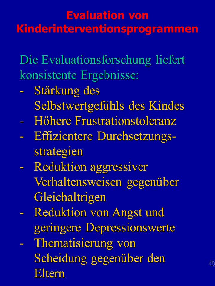 Evaluation von Kinderinterventionsprogrammen