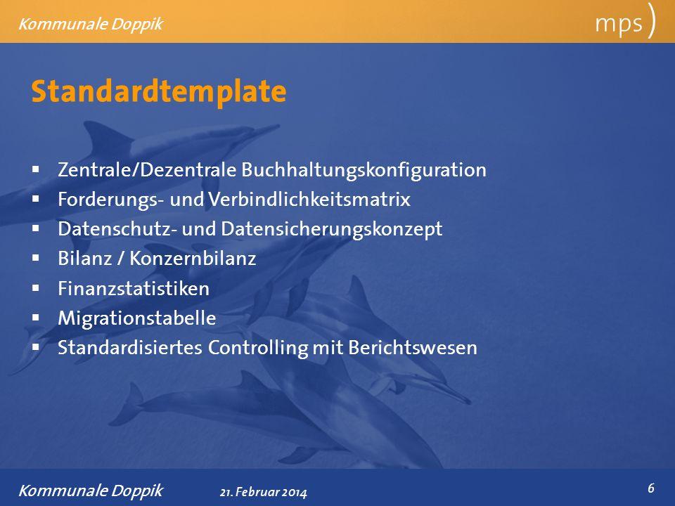 Standardtemplate mps ) Zentrale/Dezentrale Buchhaltungskonfiguration