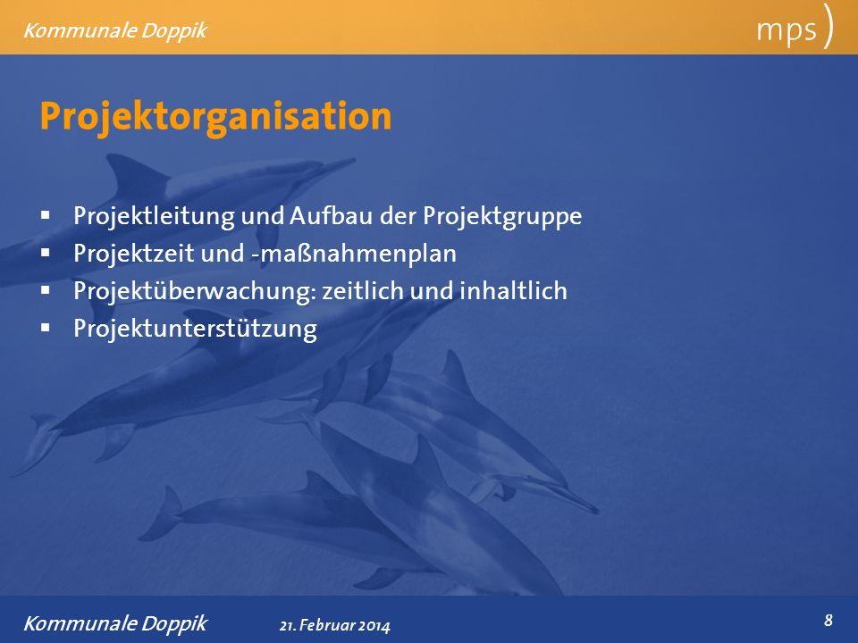 Projektorganisation mps ) Projektleitung und Aufbau der Projektgruppe