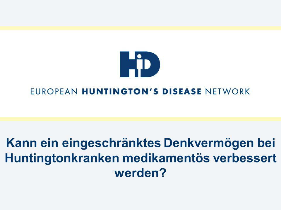 Kann ein eingeschränktes Denkvermögen bei Huntingtonkranken medikamentös verbessert werden