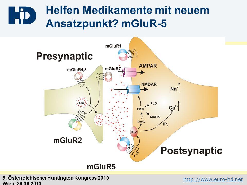 Helfen Medikamente mit neuem Ansatzpunkt mGluR-5