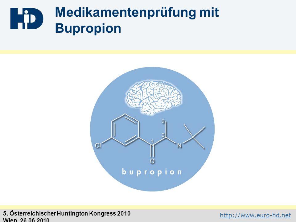 Medikamentenprüfung mit Bupropion