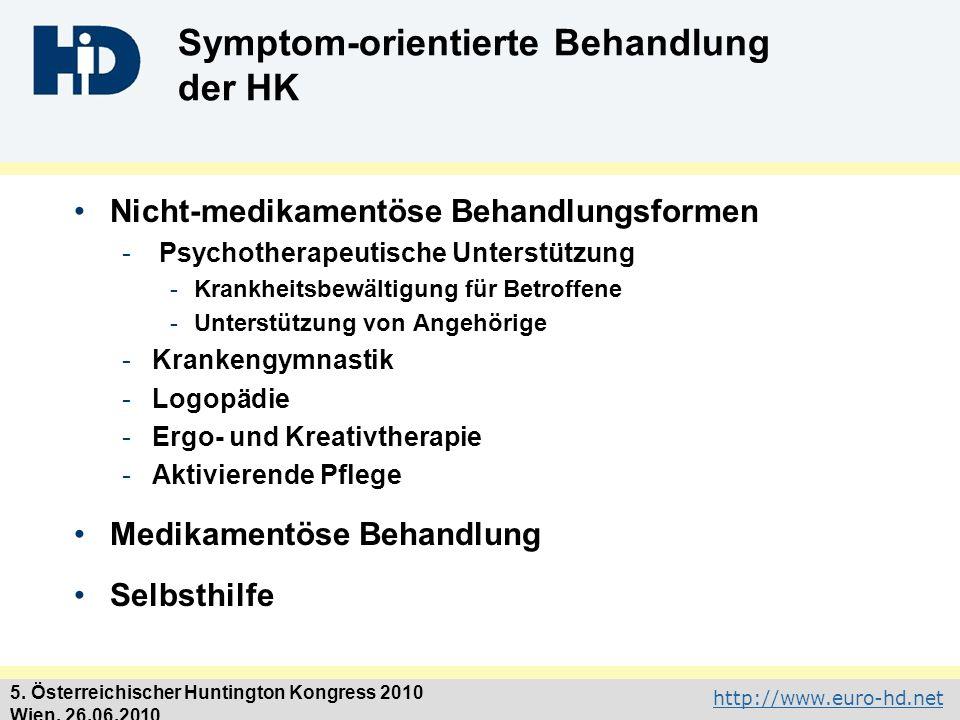 Symptom-orientierte Behandlung der HK