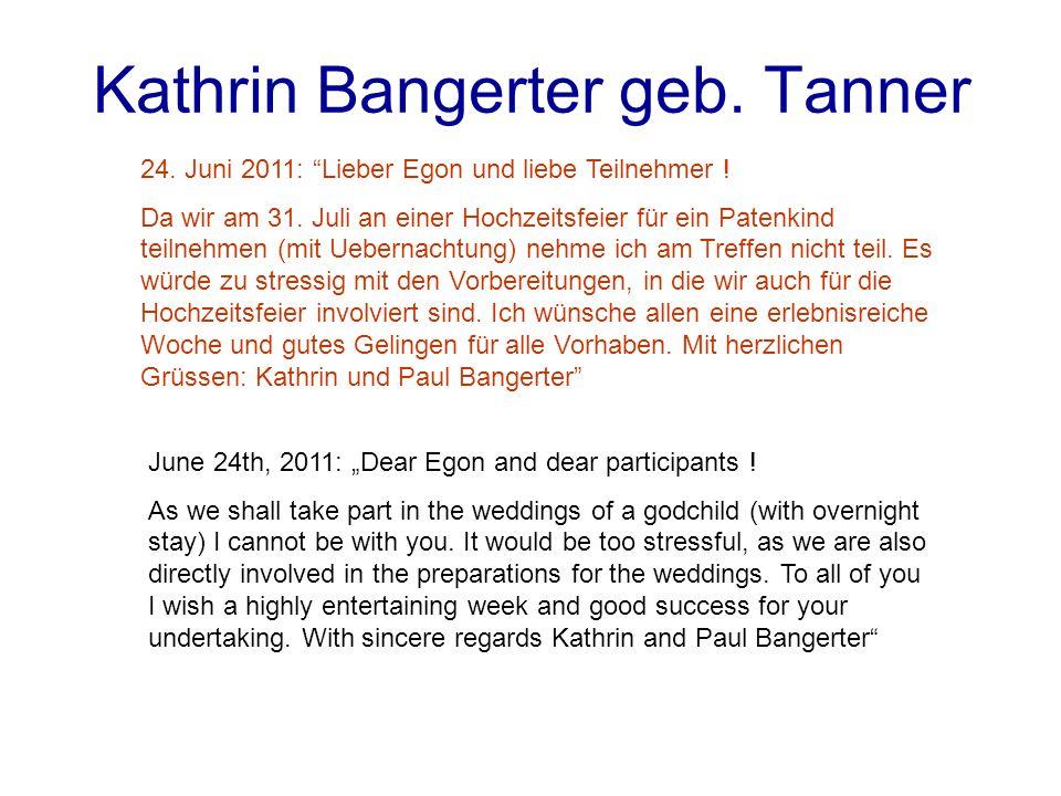 Kathrin Bangerter geb. Tanner