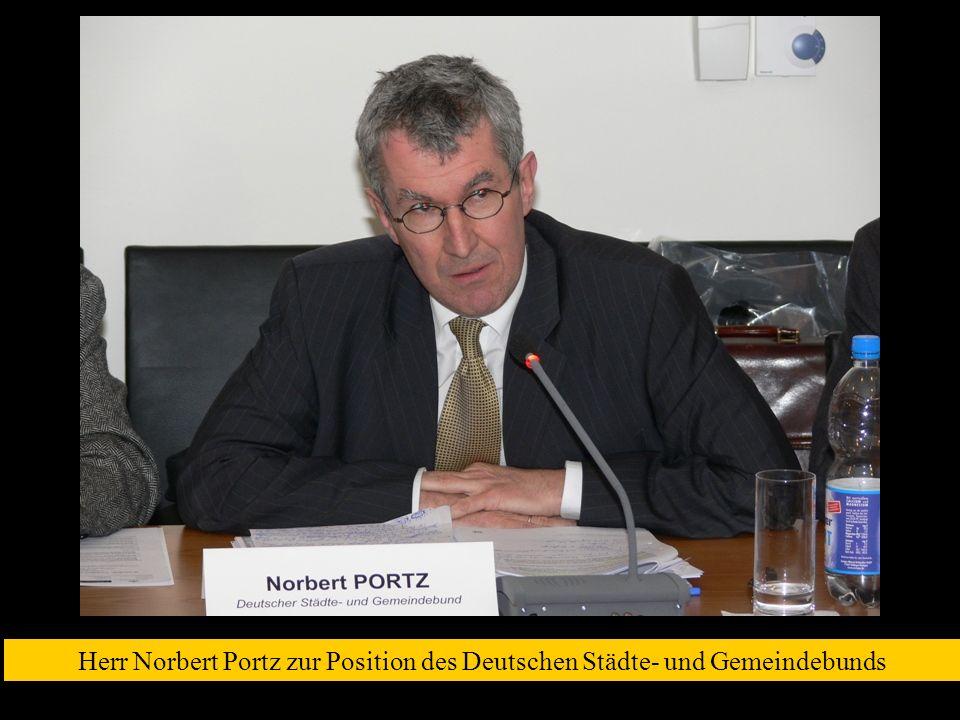 Herr Norbert Portz zur Position des Deutschen Städte- und Gemeindebunds