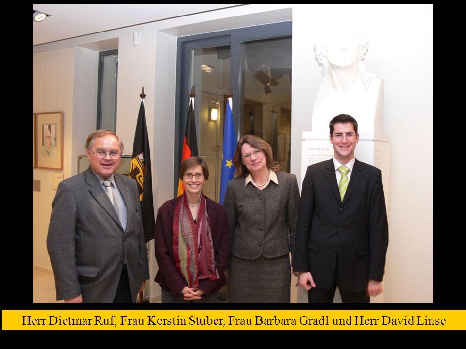 Herr Dietmar Ruf, Frau Kerstin Stuber, Frau Barbara Gradl und Herr David Linse