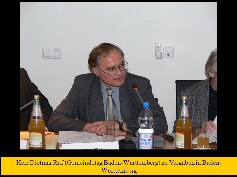 Herr Dietmar Ruf (Gemeindetag Baden-Württemberg) zu Vergaben in Baden-Württemberg