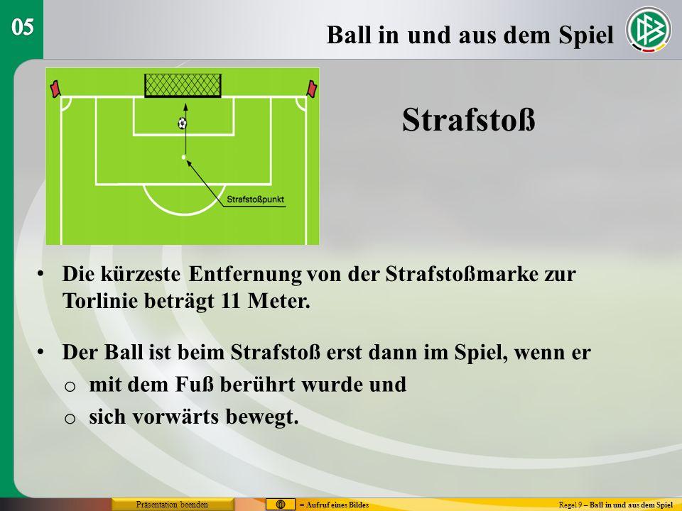 Strafstoß Ball in und aus dem Spiel 05