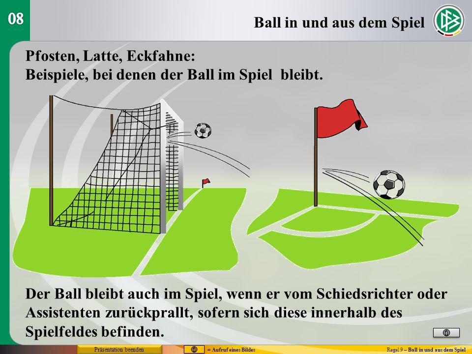Ball in und aus dem Spiel