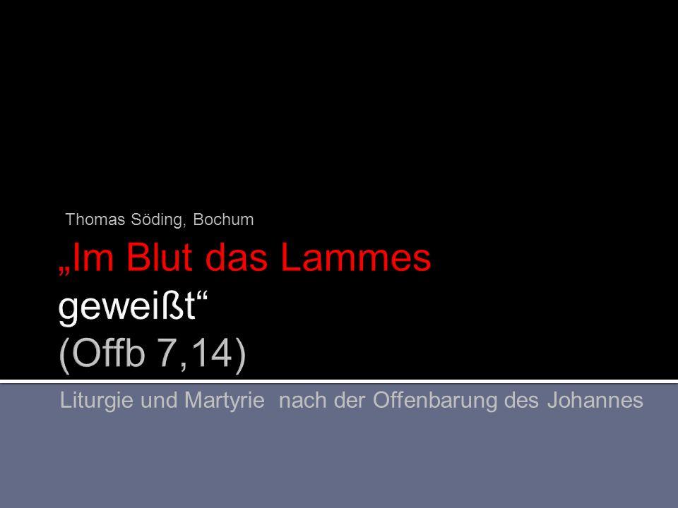 """""""Im Blut das Lammes geweißt (Offb 7,14)"""
