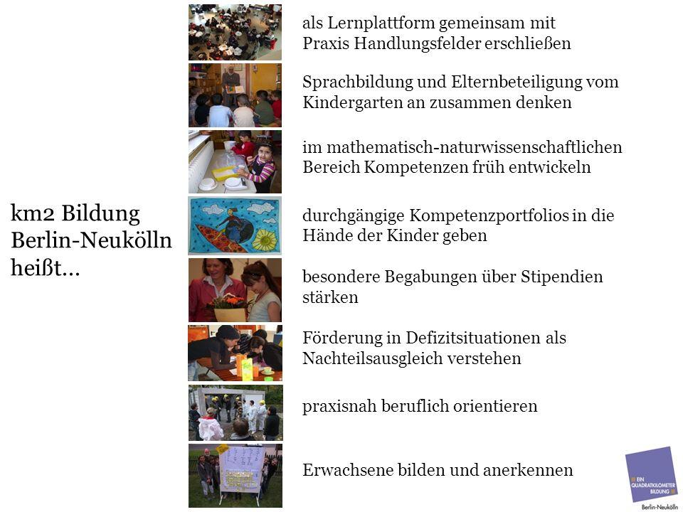 km2 Bildung Berlin-Neukölln heißt... als Lernplattform gemeinsam mit