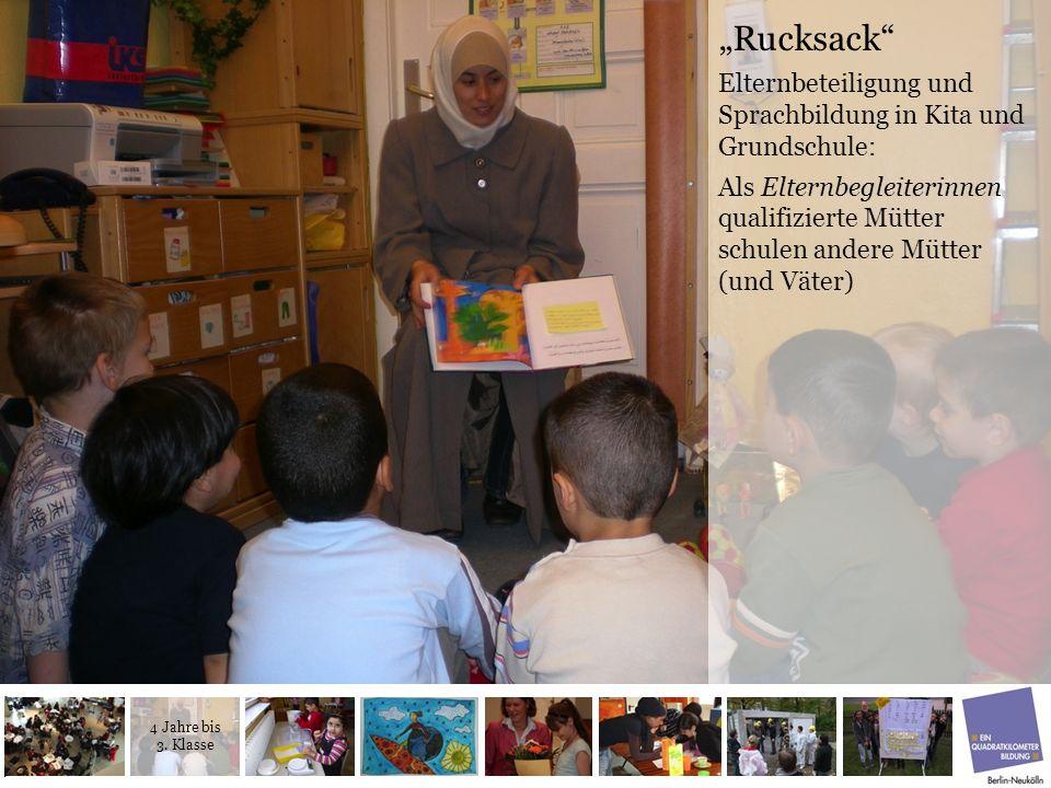 """""""Rucksack Elternbeteiligung und Sprachbildung in Kita und Grundschule:"""