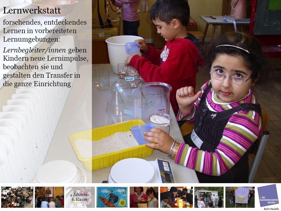 Lernwerkstatt forschendes, entdeckendes Lernen in vorbereiteten Lernumgebungen: